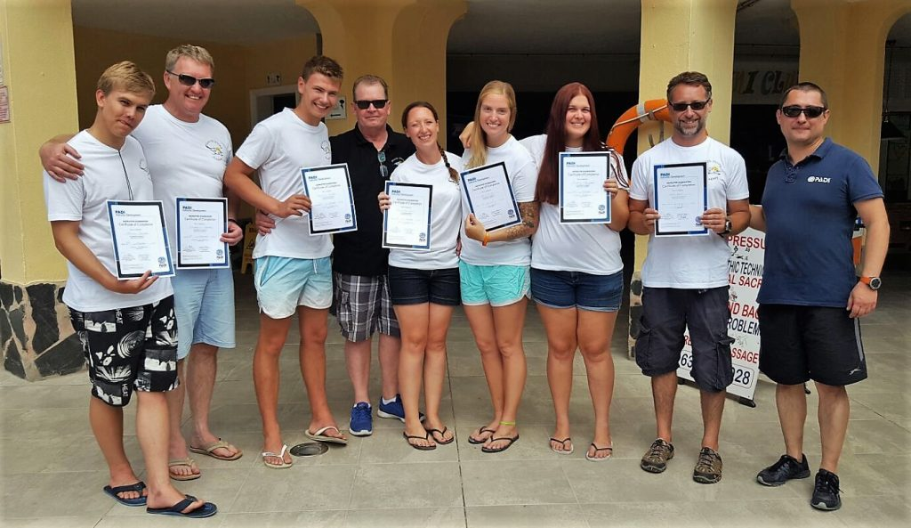 PADI IDC Tenerife October 2017